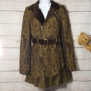 Free People Paisley Tapestry Coat Size 4